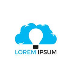 lightbulb cloud logo design vector image