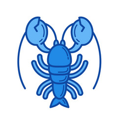 lobster line icon vector image