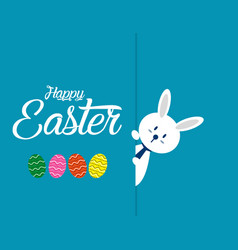 lovely easter bunnies set concept easter vector image