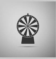 Lucky wheel flat icon on grey background vector