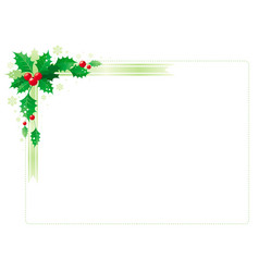 Merry christmas and happy new year corner vector