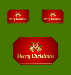 Merry Christmas card holders vector