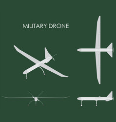 military drone colored vector image