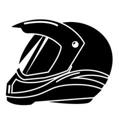 Motorcycle helmet racing icon simple black style vector