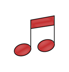 musical note tone vector image