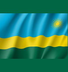 National flag of rwanda vector