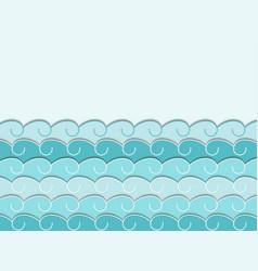 paper wave seascape vector image