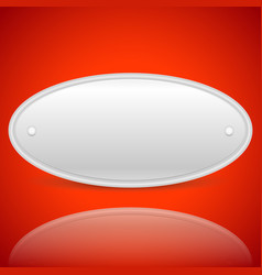 Plaque shape with blank space on bright red vector