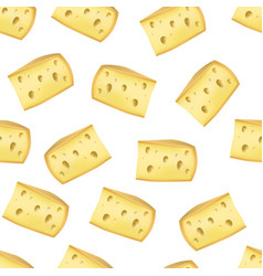 realistic detailed piece yellow cheese product vector image