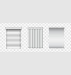 realistic window blinds set horizontal vector image