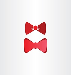 red bow tie symbol design elements vector image