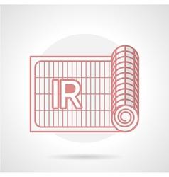 Red icon for IR underfloor heating vector