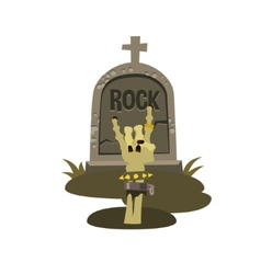 Rock is dead and sign horns vector