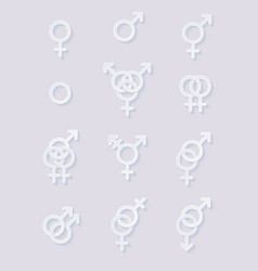 set of sexuality icons vector image