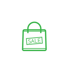 shopping bag with the sale discount symbol vector image