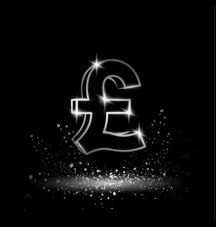 silver pound sterling symbol vector image