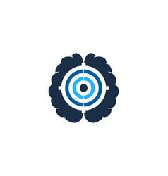 smart target logo icon design vector image