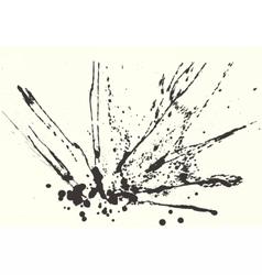 Splatter Black Ink Background vector