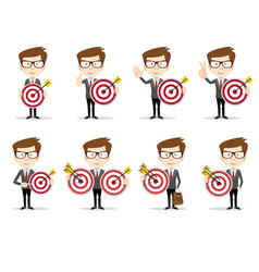 success man with a target concept business vector image