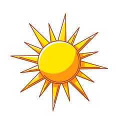 sun ecology icon for environment vector image