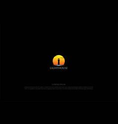sunset sunrise lighthouse searchlight beacon vector image