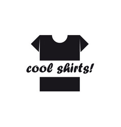 t-shirt logo cool shirts vector image