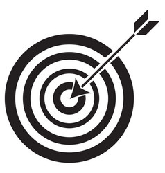 target and arrow icon vector image