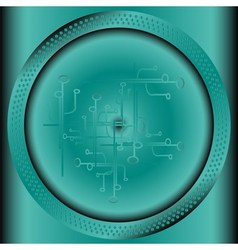 Technology background with circle vector image