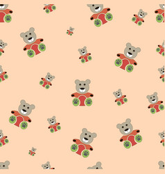 teddy bear seamless pattern bear doll seamless vector image