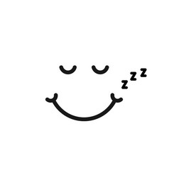 thin line sleep emoji logo like snoring vector image