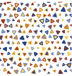 triangle colorful seamless pattern vector image