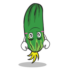 Upside down cucumber character cartoon collection vector