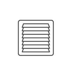 Ventilation grille line outline icon vector