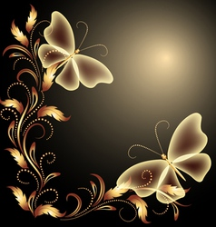 butterflies Decorative background vector image vector image