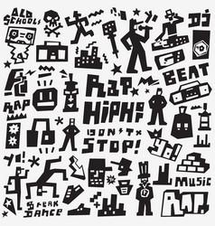 graffiti rap doodles vector image