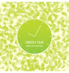 green time card vector image
