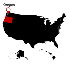 map of the us state of oregon vector image vector image