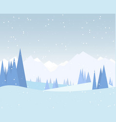 winter forest vector image