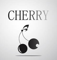 Black and White Cherry logo vector image vector image