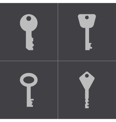 black key icons set vector image vector image
