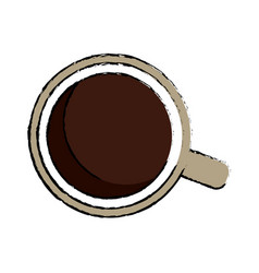 coffee cup porcelain mug beverage break vector image vector image