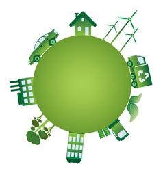 Green world vector image vector image