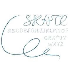 skate alphabet vector image vector image