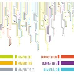 Circuit board design vector image
