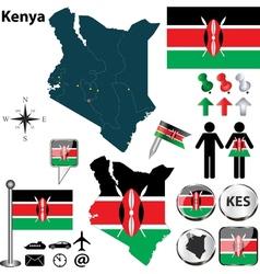 Kenya map vector image vector image