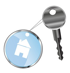 metal key and house vector image vector image