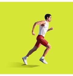 polygonal running man geometric vector image vector image