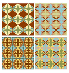 sampler with nostalgic retro patterns tile vector image vector image