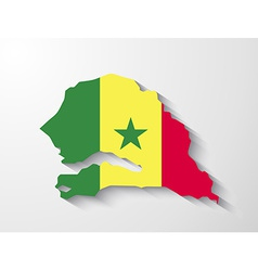 Senegal map with shadow effect presentation vector image vector image