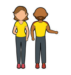 women and man vector image